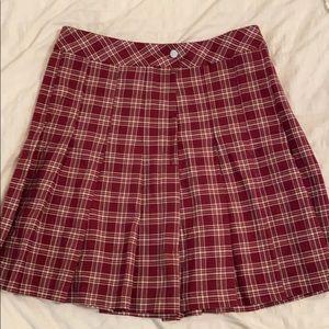 Plaid School Girl Style mini skirt high waisted